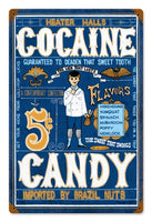 Heater Halls Cocaine Candy-Vintage Ad Wall Poster