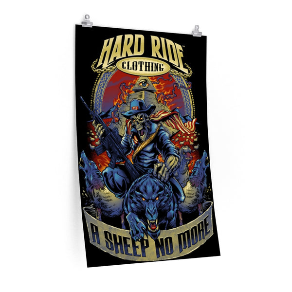 "Hard Ride Clothing ""A Sheep No More"" Poster"
