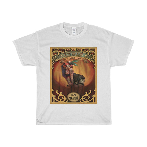"""Lydia the Living Painting"" Vintage Ad T-shirt"