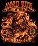 Hard Ride Clothing®- Bakken Army Fire Rider Men's T-shirt
