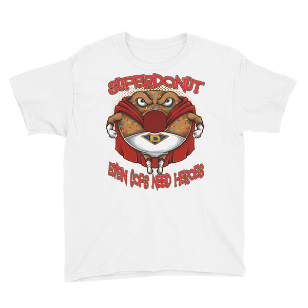 SuperDonut even cops need heroes Youth Short Sleeve T-Shirt