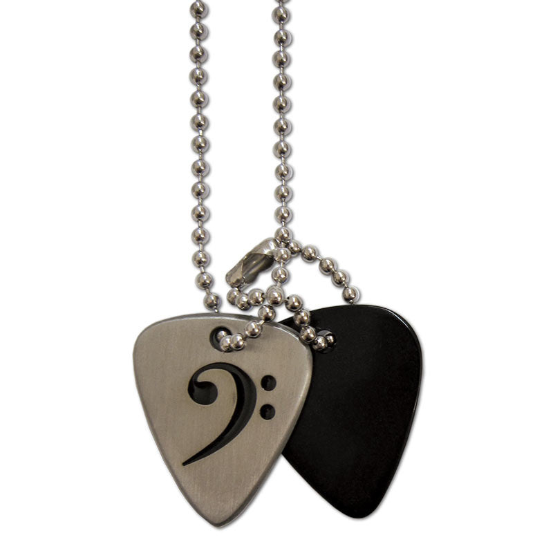 Pick necklace bass clef grover allman pick necklace bass clef aloadofball Choice Image