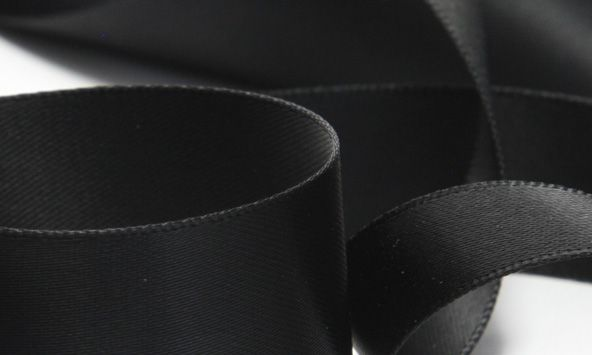 Noir Satin Ribbon (SIC-156)