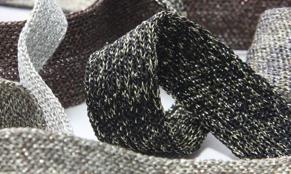 Antique Metallic Knit Binder Tape (SIC-2309)