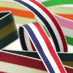Stripe Grosgrain Ribbon  #35 Black & White