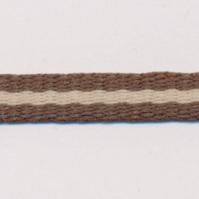 Stripe Grosgrain Ribbon  #2 Dark Earth & Fog
