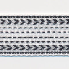 Classic Stitch Ribbon  #1 White & Black