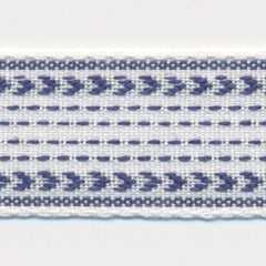 Classic Stitch Ribbon  #3 White & Twilight Blue