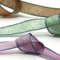 Chambray Organdy Ribbon  #1 Golden Earth