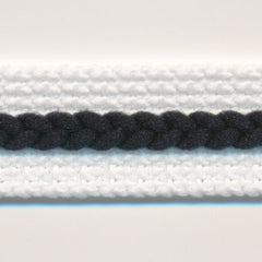Chain Line Tape  #1 White & Black