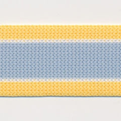 Knit Line Tape  #1 Samoan Sun & White & Forget-Me-Not