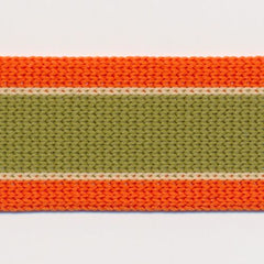 Knit Line Tape  #3 Orangeade & Hay & Piquant Green