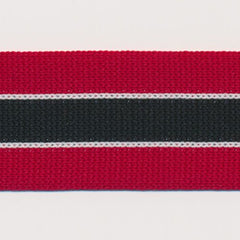 Knit Line Tape  #4 Chili Pepper & White & Black