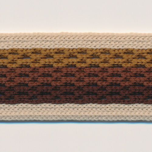 Gradation Mesh Tape  #1 Semolina & Brown Mix