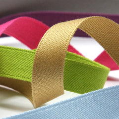 Cotton Double-Face Satin Tape  #27 Bistre