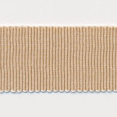 Chambray Grosgrain Ribbon  #3 Latte