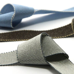 Chambray Grosgrain Ribbon  #13 Demitasse