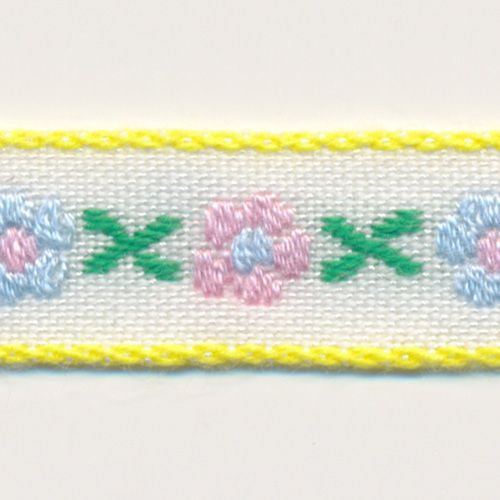 Tyrolese Tape  #7 White & Rose Shadow & Baby Blue