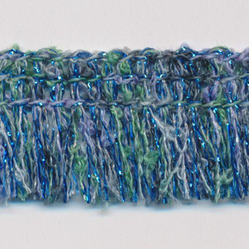 Multi Color lame Fringe  #8 Blue Mix