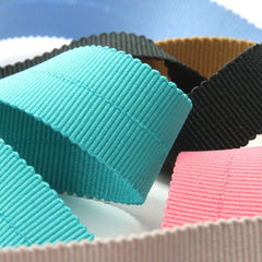 Polyester Grosgrain Ribbon (Soft Stretch)  #74 Black Coffee