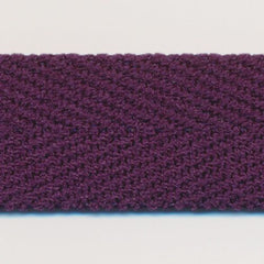 Polyester Herringbone Ribbon (Soft Stretch)  #168 Plum Perfect