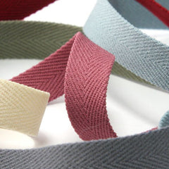 Polyester Herringbone Ribbon (Soft Stretch)  #47 Peacoat