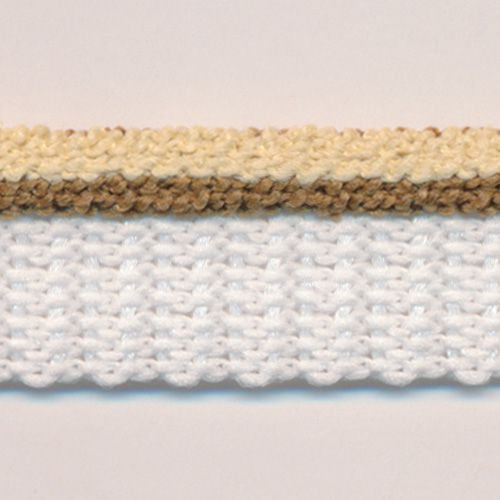 Stripe Pile Piping  #9 Cloud Cream & Otter & White