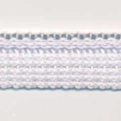 Reflect Knit Piping  #01 White