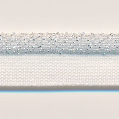 Metallic Stretch Piping  #01 White & Silver