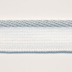 Metallic Stretch Piping  #1 White & Silver