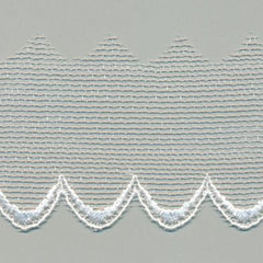 Embroidered Tulle Lace  #01 White