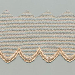 Embroidered Tulle Lace  #10 Apricot Illusion