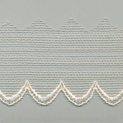 Embroidered Tulle Lace  #158 Antique White