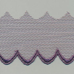 Embroidered Tulle Lace  #18 Wineberry