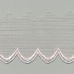 Embroidered Tulle Lace  #60 Crystal Pink