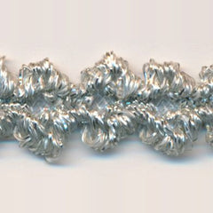 Antique Metallic Trimming Braid  #2 Off White & Silver