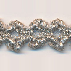 Antique Metallic Trimming Braid  #4 Pink Tint & Silver