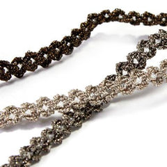 Antique Metallic Trimming Braid  #6 Elephant Skin & Silver