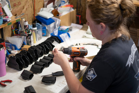 Assembly of kydex holsters