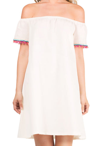 Tala Dress - Ivory/Rio