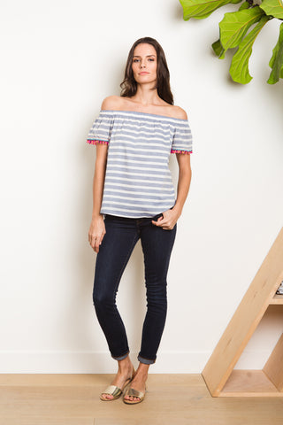 Hada Top - Cabana Stripe Navy