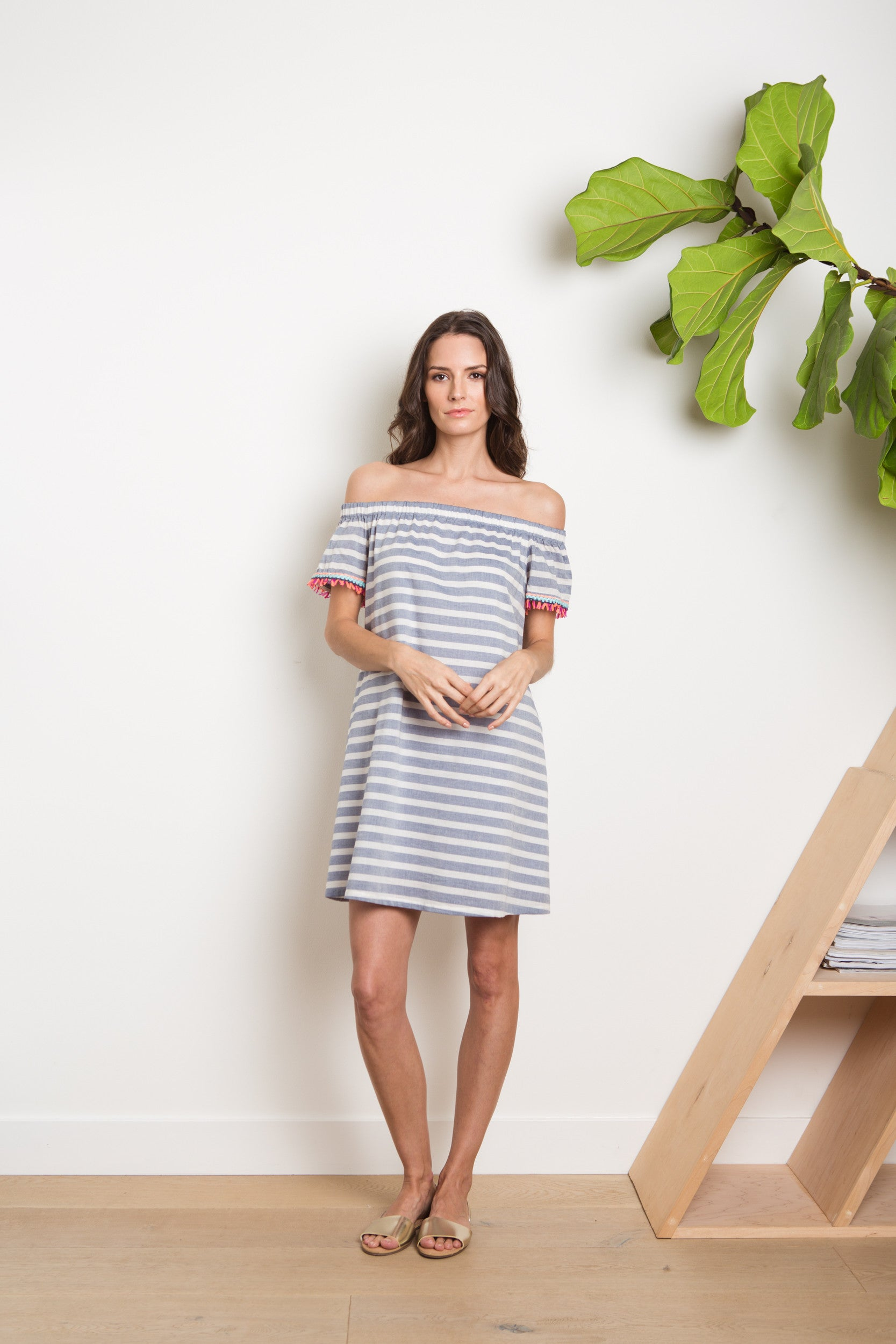 Tala Dress - Cabana Stripe Navy