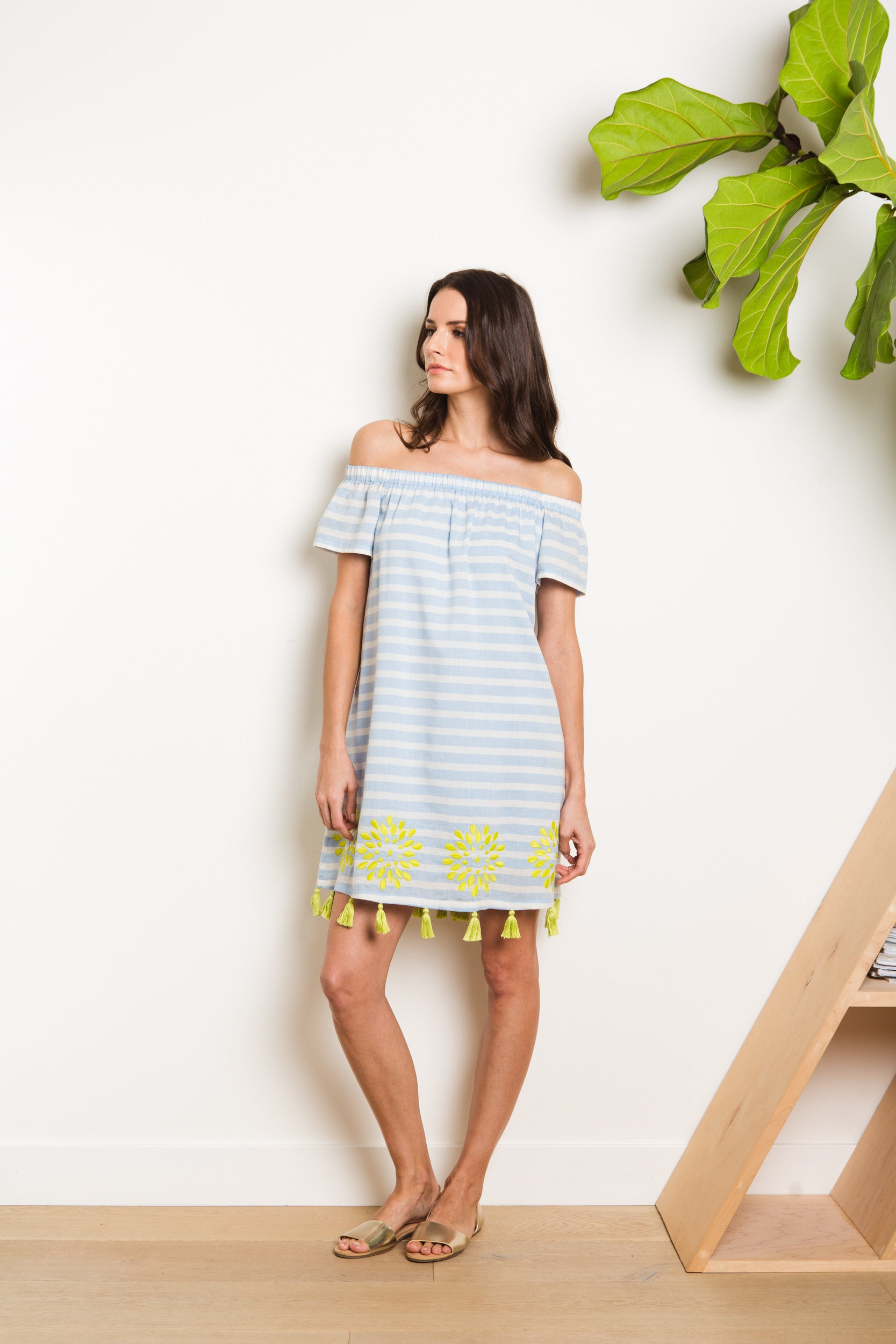 Tala Dress - Cabana Stripe Sky