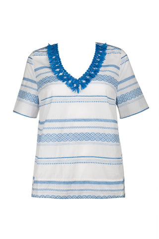 Savannah Top - Regatta Embroidered
