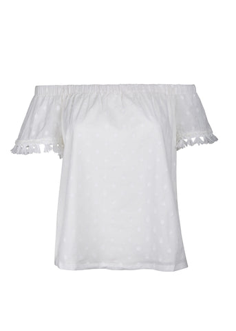 Hada Top - White Dot