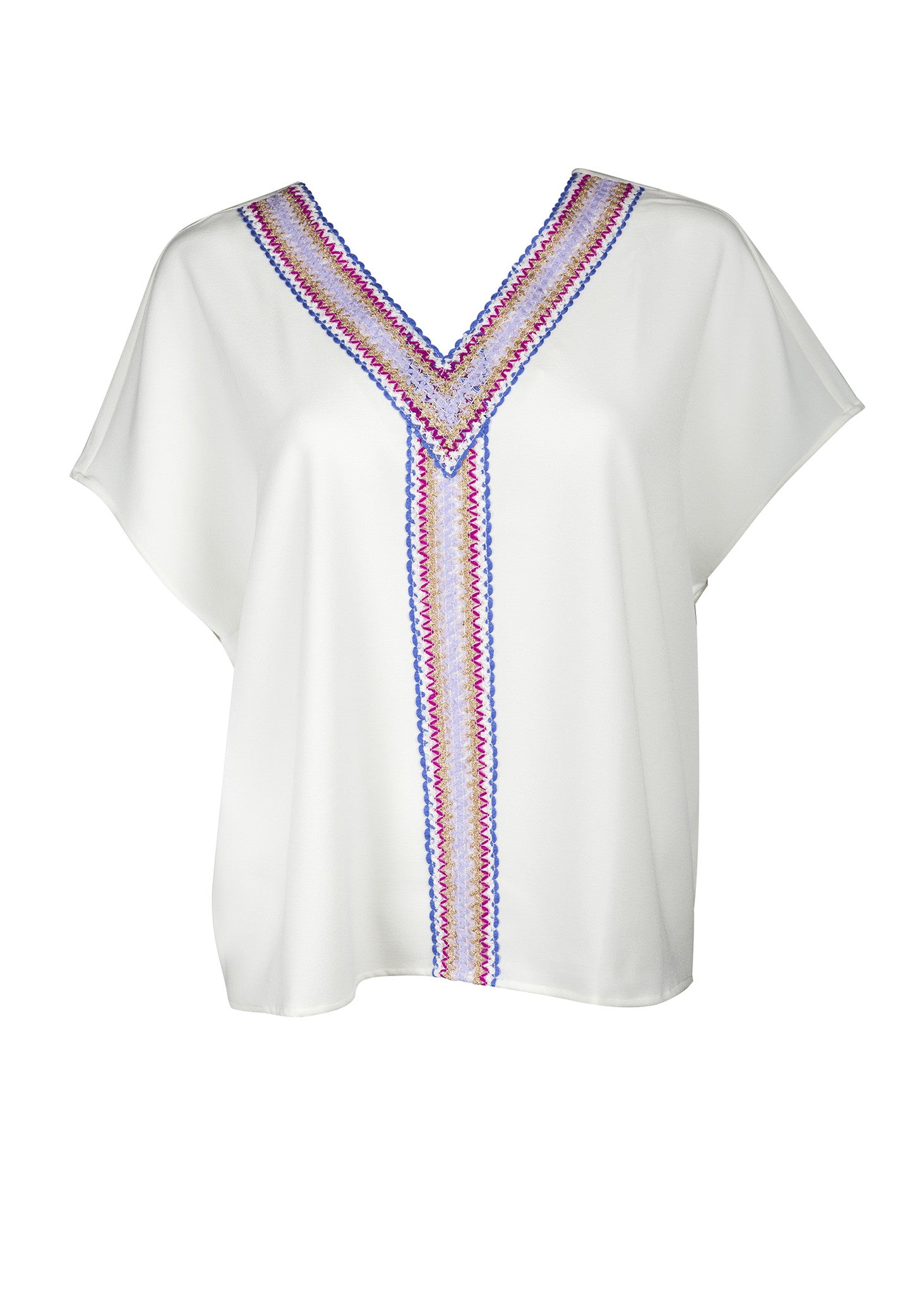 Ragan Top - White/Fuschia
