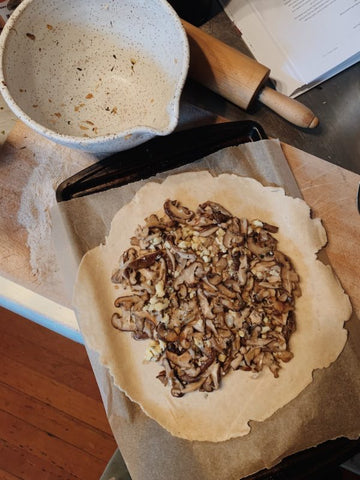 making the galette