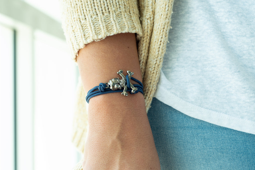 The Skullywag Bracelet - Navy