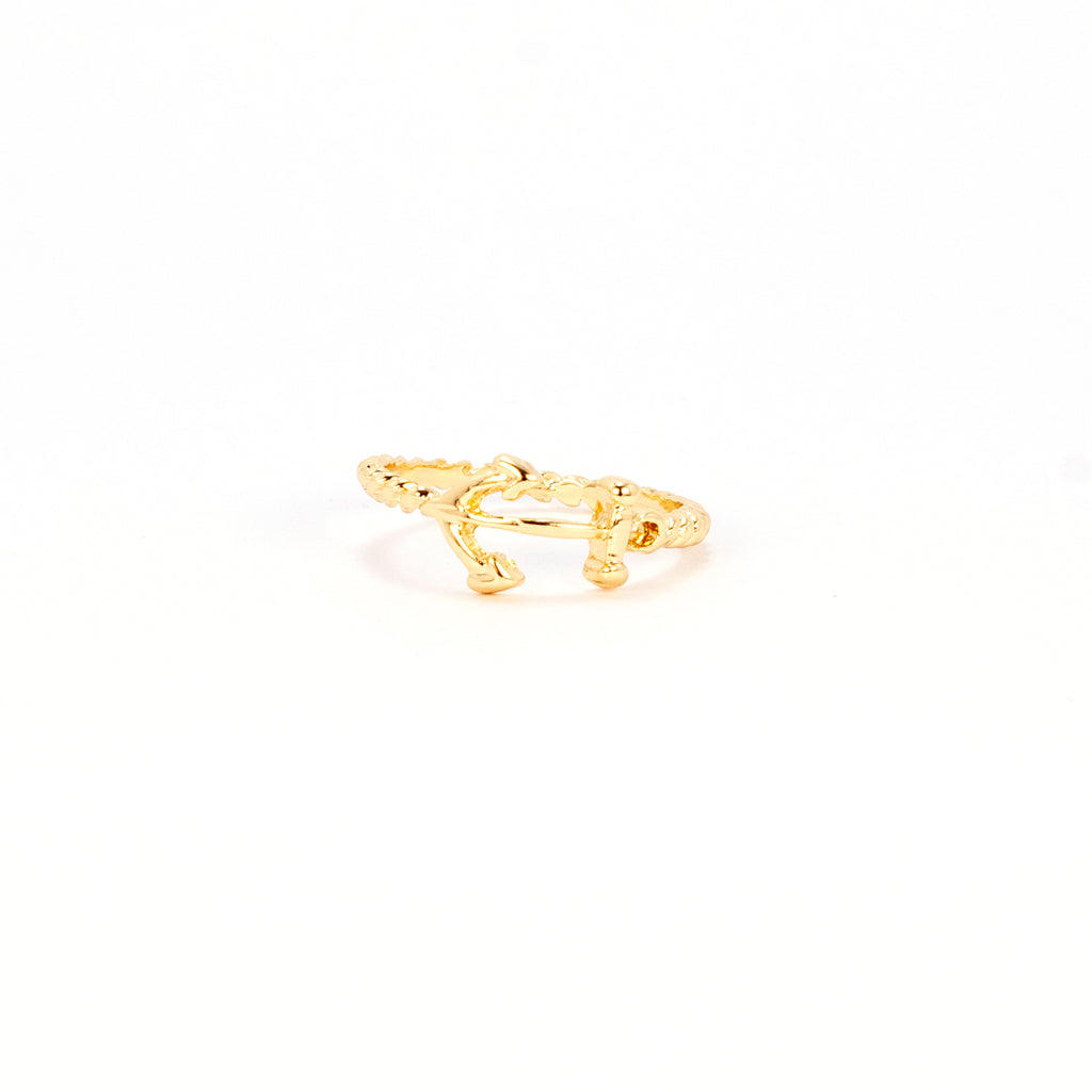 Braided Anchor Ring - Gold