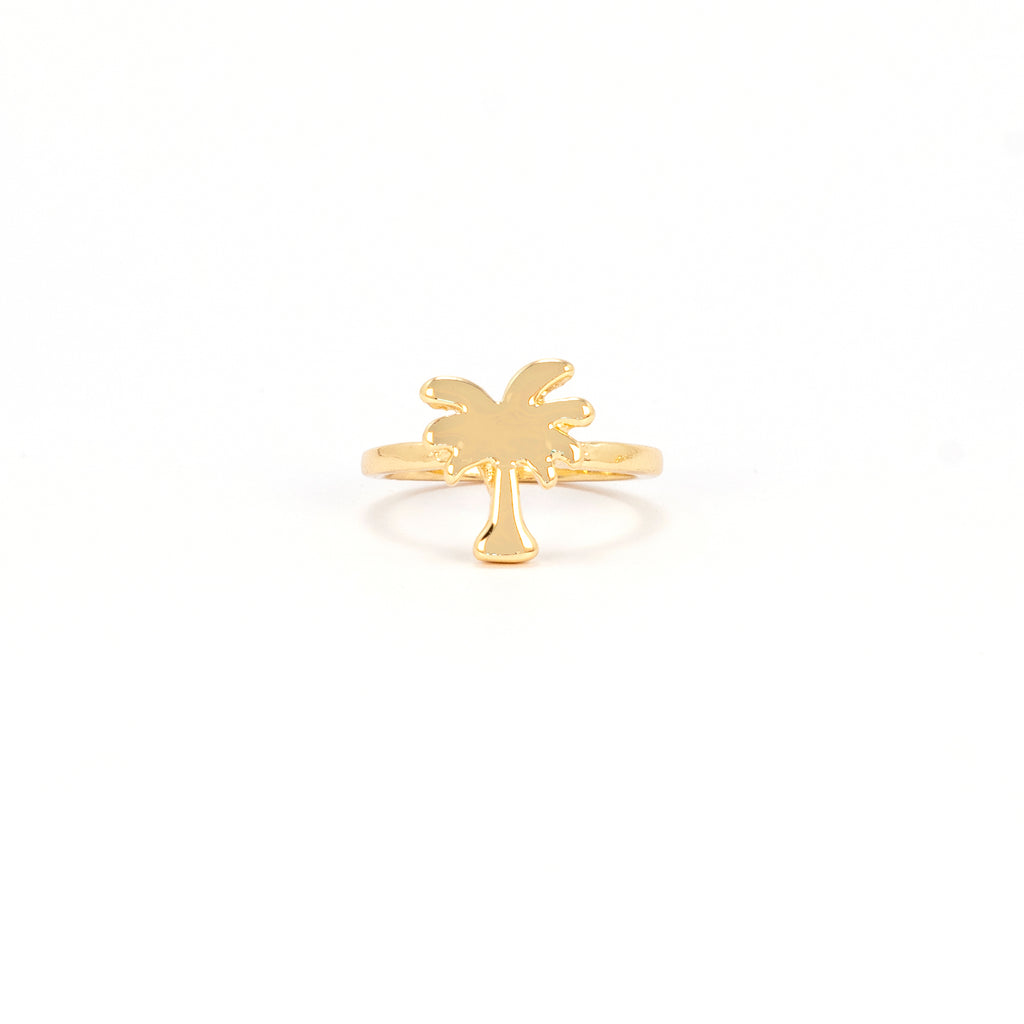 Palm Tree Ring - Gold